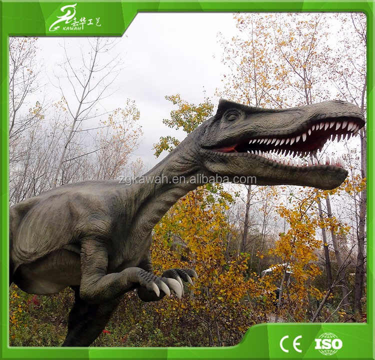 Outdoor indoor amusement life size zoomer interactive dinosaur for dino park