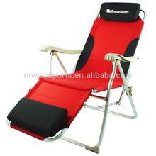 Onwaysports china recliner outdoor backrest folding beach camping chair with headrest OW-85
