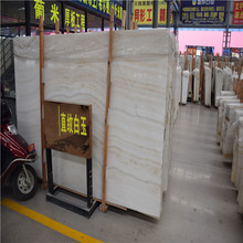 Best quality straight grain of white jade marble slab