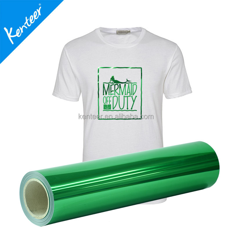 Kenteer metallic vinyl heat transfers rolls for garment decoration