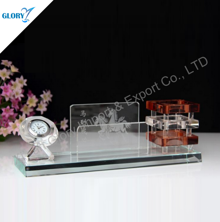 Cool Funny Crystal Small Desk Clock For Decoration