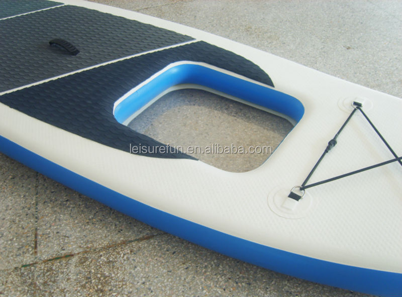 Custom colorful inflatable paddleboard surfing with clear window