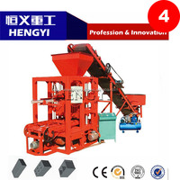 High quality QT4-26 semi automatic laying soil cement block brick making machine with competitive price