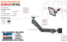 Headrest Car Mount Holder for iPad / Galaxy Tab / Galaxy Note / Nexus 10 / camera / Tablet-PC