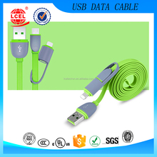 Colorful Retractable USB Data Cable,Reversible Micro 2 In 1 Usb Cable,Wholesale For 8pin and android Usb Cables