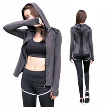China Factory Wholesale Gym <strong>Sports</strong> Running Girls Tops Women Coat gym clothing Yoga wear