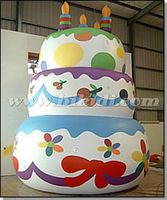 Giant inflatable birthday cake model helium balloon for Parade/ party K7129