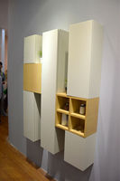 Small wall mount wooden Storage Cabinet