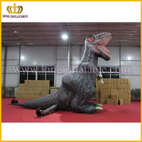 Giant inflatable dinosaur model for display, inflatable standing dinosaur replia