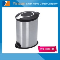 Cheap stainless steel recycling living room waste containers