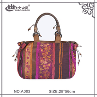 Lady Handbag and Tote Bag with Color jacquard of vintage Fashion/ New Design Wholesale Fashion Gift