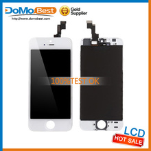 China wholesale hot sale cheap price lcd screen for iphone 5s With Camera Ring and Dust Mesh