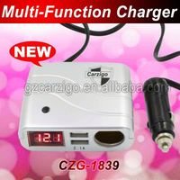 quick lead time DC 0-24v input bulk order discounts Good design dual usb car charger 2a