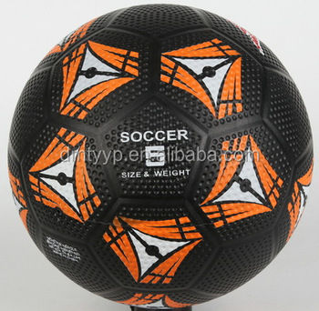 Xidsen,Qianxi Rubber Golf surface Football size 5,Fluorescence Orange printed