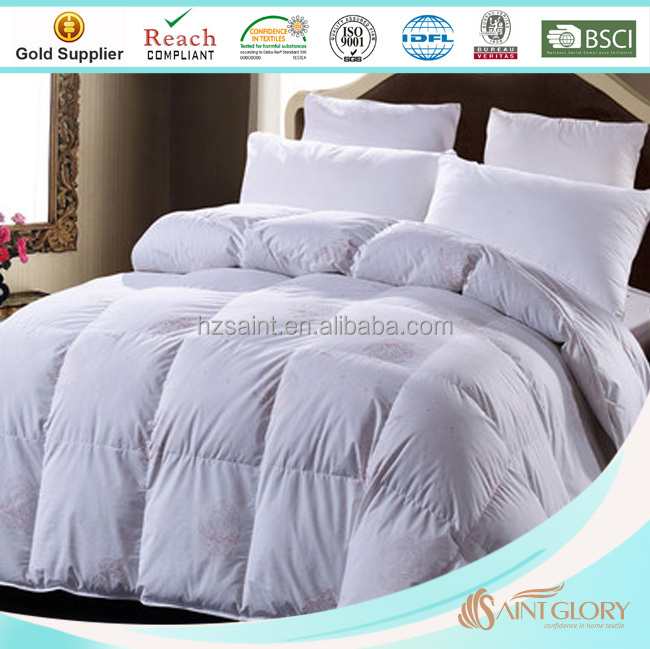 Classic Goose 15% Down 85% Feather White Duvet Inner Down Feather Soft Quilt Comforter Insert Super King