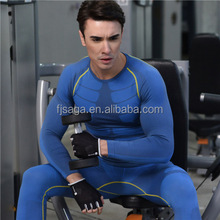 wholesale fashion Autumn style quick dry breathable men compression long sleeve shirt for slim fit soccer <strong>sports</strong> using