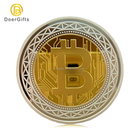 Factory Wholesale Custom Bulk Blank Cheap Commemorative Plated Gold Bitcoin Coin