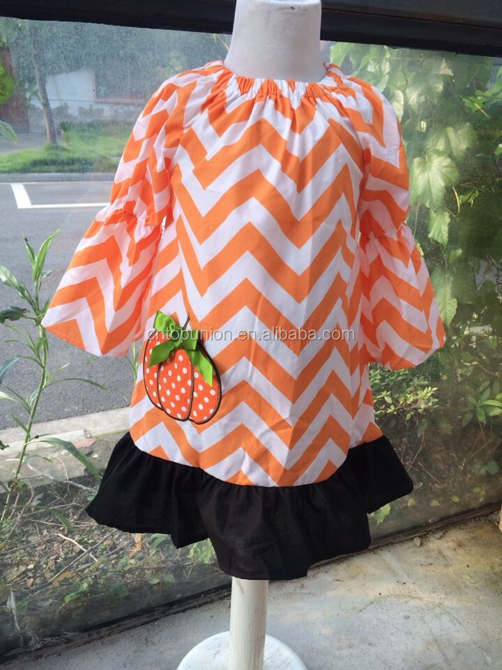 2014 new girls halloween outfit pumpkin outfit candy corn outfit
