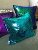 custom made instock mermaid reversible sequin pillow