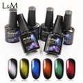 ibdgel New Gem Effect Cat Eye Gel China Glaze Color UV Gel Soak off Magnetic Gel Polish Cat Eye