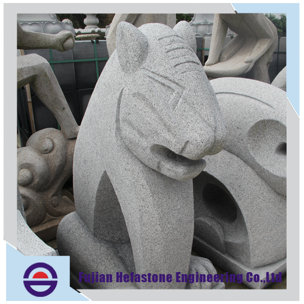 China Stone Manufacturer Save 20% Many Shape Style Tiger Shape One Set Sale Animal Head Sculpture