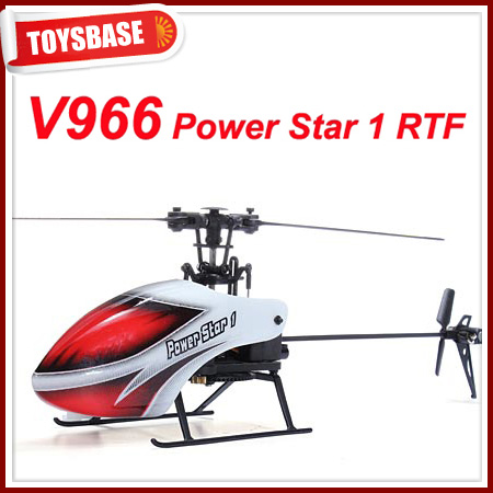 WL V966 Newest 6CH 2.4G RC Helicopter Power Star 1 Flybarless RC Helicopter - TOYSBASE