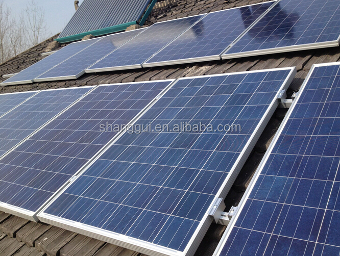 1000W 1KW Off-Grid Solar Power System for Home Solar Panels/Hybrid Inverters/Battery/Mounting/Cables