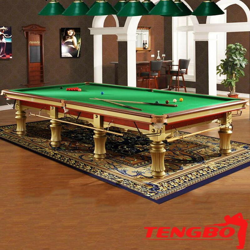 Tengbo high quality 12ft solid wood and slate tb uk004 for 12 ft snooker table