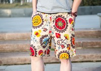 2016 summer beach wear printing young short pants for man