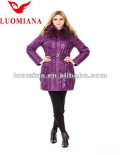 Korean feather padded winter thick warm coat slim women down latest dress designs