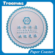 Water absorbent disposable hotel tissue paper coaster for promotion