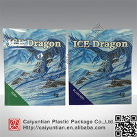 ice dragon herbal incense bag with ziplock