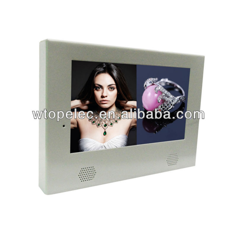 "10"" LCD monitor for playing video in loop"