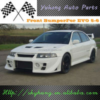 FOR Mitsubishi EVO 6 DAMD Style FRP Front Bumper In Black