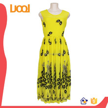 2015 hot sell Desses for Women Sleeveless High Fashion Printed Sexy Work Summer Prom Dresses