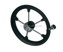 5 Spokes Stainless Steel Boat Marine Steering Wheels coated with Black PU Foam 13.5 15.5'