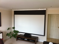 Motorized table tension projection screen aluminum screen home theater matte white with remote wireless control