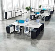 4 Person Modern Modular Office Desk Staff Table and Workstation