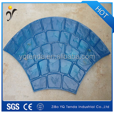 Rubber concrete stepping stone moulds for garden decoration