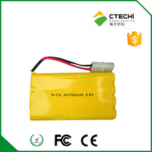 nicd aa 700mAh 9.6V toy car rechargeable battery pack