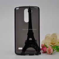 Factory Supply Cheap Soft Anti-Skid TPU Back Cover Case for LG G3 Stylus Mobile Phone