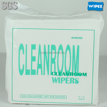 Pulp and Polypropylene industrial cleanroom towel