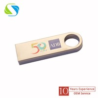 2016 promotional custom logo full printed metal usb flash disk