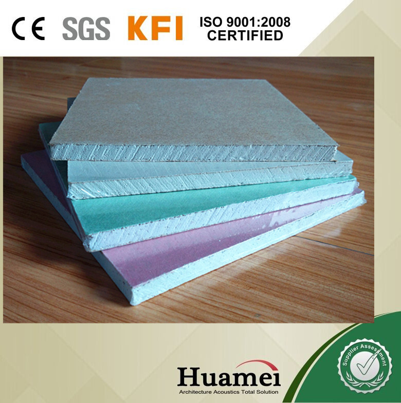 Standard 12mm & 9mm thick gypsum board/Dry wall