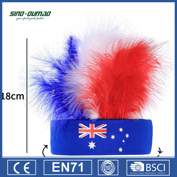 Europe World Australia Straight Football Fan Wigs