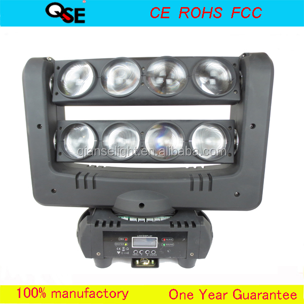 Double row moving head spider light led beam spot light