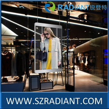 Radiant hd outdoor transparent glassy advertising curtain led screen