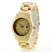 2016 charming natural wholesale wood watch wrist watches made in china