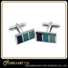 Fashionable jewellery design simple stainless steel cufflinks findings