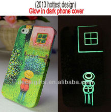 Glow in the dark silicone cell phone case for full color printing